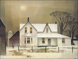 """A.J. Casson """"Winter Sun"""" Lithograph - Appraised at $750"""
