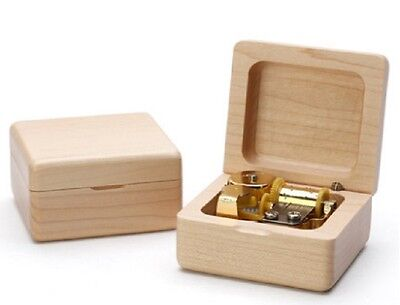 Beech Wood Wind Up  Music Box:  Canon in D
