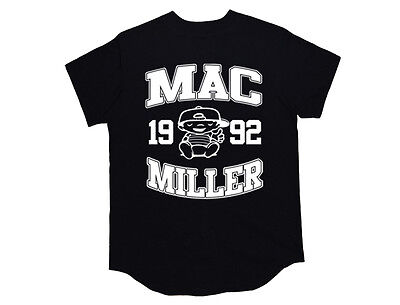 Mac Miller Baseball Jersey* Shirt most dope Crewneck high life wiz khalifa Black Black Baseball Jersey Shirt