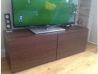 Ikea Besta tv unit / two door cupboard 120 x 40 light brown