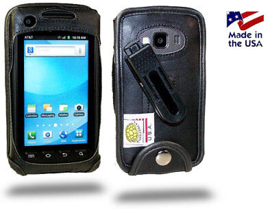 Turtleback Samsung Rugby Smart Leather Fitted Phone Case with Plastic Belt Clip ()