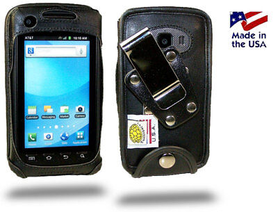 Turtleback Samsung Rugby Smart Leather Fitted Phone Case with Metal Belt Clip ()