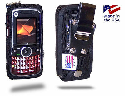 Turtleback Motorola i465 Clutch Fitted Nylon Phone Case with Metal Belt Clip I465 Clutch