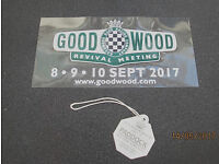 GOODWOOD REVIVAL 2017 ENTRY TICKETS-PADDOCK PASS - GRANDSTAND TICKETS