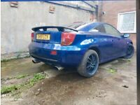 Toyota celica 1.8 vvti mot runs out November 16 alloys good tyres full leather interior