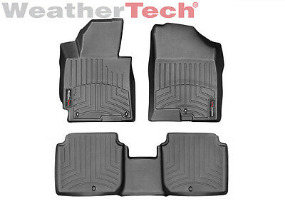 WeatherTech Floor Mats FloorLiner for Hyundai Elantra - 2014-2016 - Black