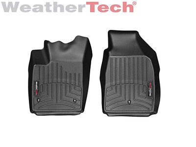 Weathertech Floor Mats Floorliner For Fiat 500   2011 2017   1St Row   Black