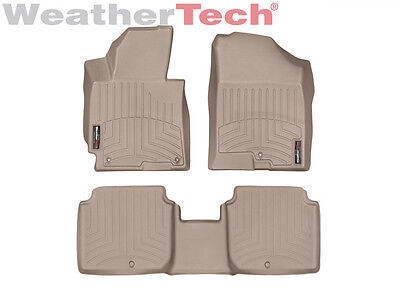 WeatherTech Floor Mats FloorLiner for Hyundai Elantra - 2014-2016 - Tan