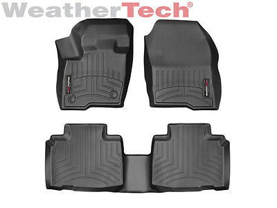 Weathertech Floorliner Floor Mats For Ford Edge   2015 2018   Black