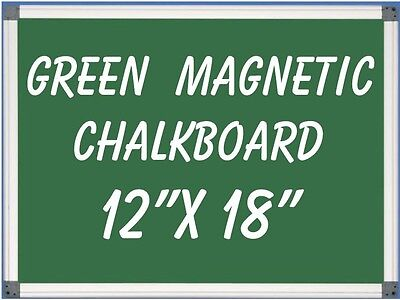 12 X18 Aluminum Framed Green Magnetic Chalkboard Pen Tray Liquid Chalk Ok