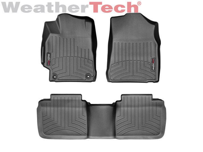 1st Row 2015-2017 WeatherTech FloorLiner Floor Mats for Toyota Camry Black