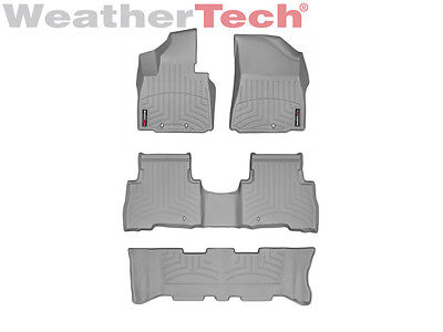 WeatherTech Floor Mats FloorLiner for Kia Sorento w/ 3rd Row - 2014-2015 - Grey