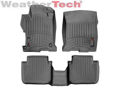 Weathertech Floor Mat Floorliner For Honda Accord Sedan   2013 2017   Black