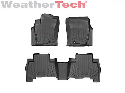 Weathertech Suv Floor Mats Floorliner For 4Runner   Gx   1St   2Nd Row Black