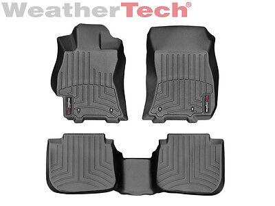 Weathertech Floor Mats Floorliner For Legacy Outback   1St   2Nd Row   Black