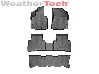 WeatherTech Floor Mats FloorLiner for Kia Sorento w/ 3rd Row - 2014-2015 - Black