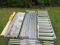Boss Youngman 6.2m w/h Aluminium Scaffold Tower Fully Complete