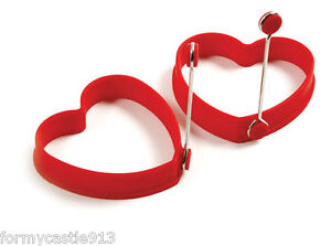 NORPRO-SILICONE-HEART-PANCAKE-EGG-RINGS-2PC-RED-NEW