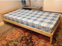 Single bed frame with mattress clean suitable for child or teen