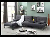 Ricardo grey corner sofa bed