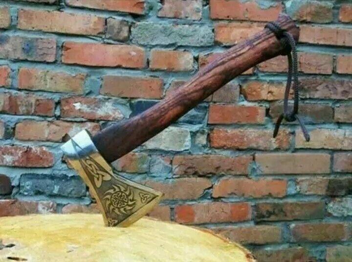 New Custom Handmade Carbon Steel Tomahawk Axe Throwing Viking Hunting