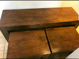 Dark Oak Coffee / Nest of Tables / Solid Wood