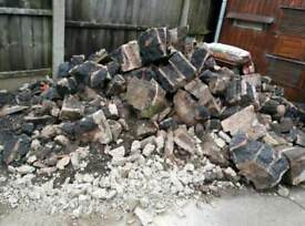 Rubble/bricks/hardcore
