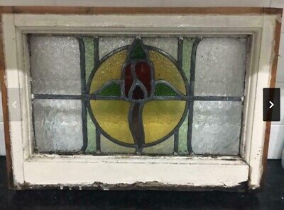 medium stained glass window  - beautiful colours leaded