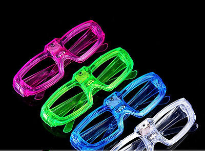 12 PCs Frame LED Flashing Glasses Light Up Sunglasses Wedding Party Favor Packs