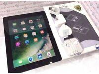 IPAD 4, LARGE 32GB, Wi-Fi + CELLULAR UNLOCKED, FREE CASE