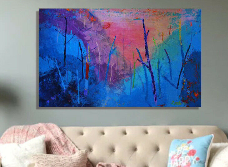 """painting on canvas  39"""" X 62"""" Acrylic, Abstract, POP Art, giant"""