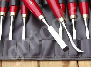 12 pi ces ciseaux gouges de tournage sur bois outils de. Black Bedroom Furniture Sets. Home Design Ideas