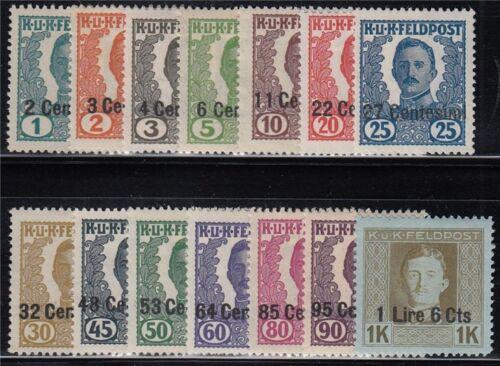 Österreich ungarische Feldpost Italien Nr. I-XIV nicht ausgegeben postfrisch