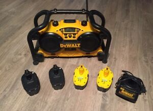 DeWalt Jobsite Radio + 18V Batteries