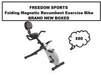 FOLDING MAGNETIC RECUMBENT EXERCISE BIKE BRAND NEW BOXED
