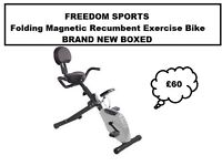 FOLDING MAGNETIC RECUMBENT EXERCISE BIKE BRAND NEW BOXED
