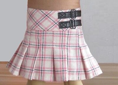 "Lovvbugg Pink Plaid Skirt for 18"" American Girl Doll Clothes"
