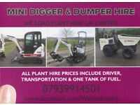CHEAP!!! MINI & MICRO DIGGER WITH DRIVER HIRE