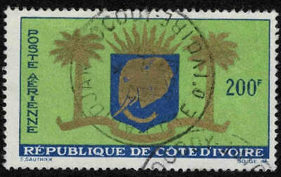 Ivory Coast 1964 200F Arms Of Republic Airmail Stamp - Fine Used