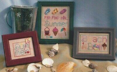 FLIP FLOP SUMMER TRIO--Beach Ball--3 Designs--Counted Cross Stitch -