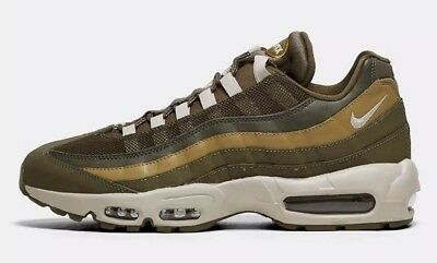 USS* Mens Nike Air Max 95 Essential Trainer | Olive Canvas / Light Bone UK 7