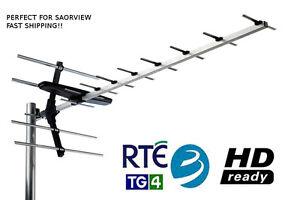 UHF-Digital-Terrestrial-Black-Wideband-Aerial-HD-Saorview-Compatible-Irish-TV