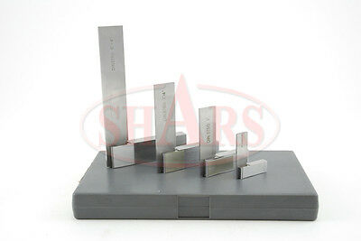SHARS 4 STEEL HARDENED SQUARE SET GROUND MACHINIST TOOL NEW