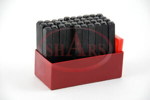 SHARS 5mm 3/16 Steel Punch Stamp Die Set Metal 36 Pc Number & Letters in plastic