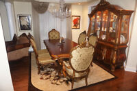 Antique Dining Table With Buffet And Hutch!