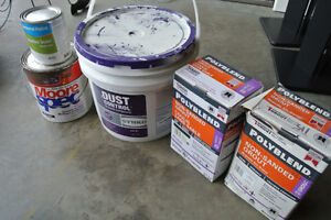 Grout and other paint supplies