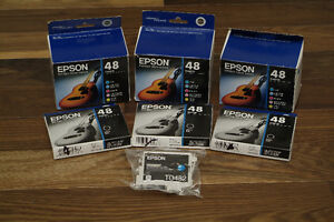 Epson ink cartridges 48 (3x colour packs and 3x black ink)