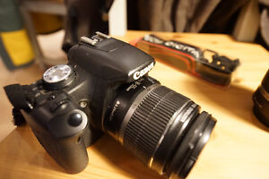 Canon EOS (Kiss X3 Digital) w/18-55mm lens + extras