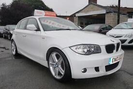 2010 10 BMW 123D M Sport 2.0TD DIESEL 2 OWNERS FULL SERVICE HISTORY in WHITE
