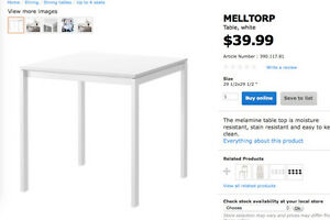 ikea square dinning table